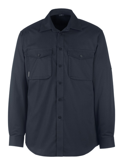 MASCOT® Greenwood - mørk marine - Skjorte, moderne pasform