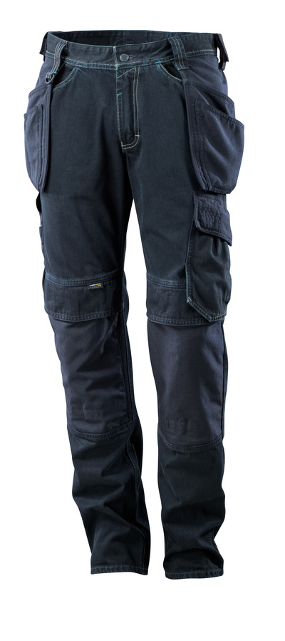 MASCOT® HARDWEAR - mørkeblå denim - Jeans med knæ- og hængelommer, ekstra høj slidstyrke