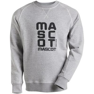 MASCOT® HARDWEAR - grå-meleret - Sweatshirt med broderet MASCOT, moderne pasform