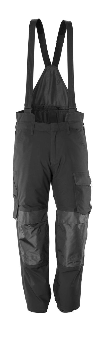 MASCOT® HARDWEAR - sort - Overtræksbuks med knælommer, vind- og vandtæt