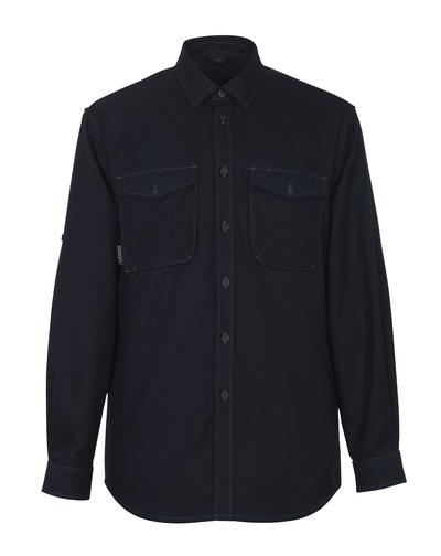MASCOT® Hampton - mørk marine - Skjorte, moderne pasform
