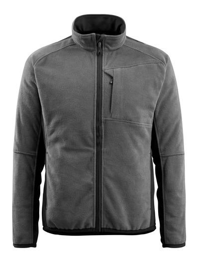 MASCOT® Hannover - mørk antracit/sort - Fleecejakke, forlænget ryg