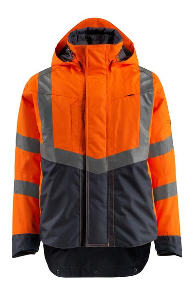 MASCOT® Harlow - hi-vis orange/mørk marine - Skaljakke, vandtæt, kl. 3