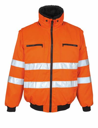 MASCOT® Innsbruck - hi-vis orange - Pilotjakke med udtageligt pelsfór, vandafvisende, kl. 2