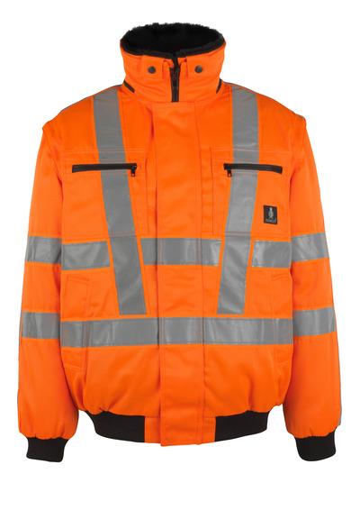 MASCOT® Innsbruck - hi-vis orange - Pilotjakke med udtageligt pelsfór, vandafvisende, kl. 3