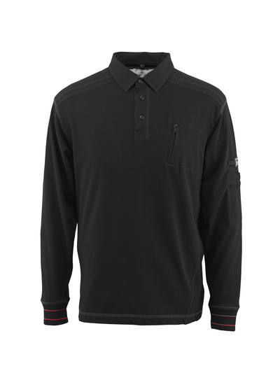 MASCOT® Ios - sort - Polosweatshirt med brystlomme, moderne pasform