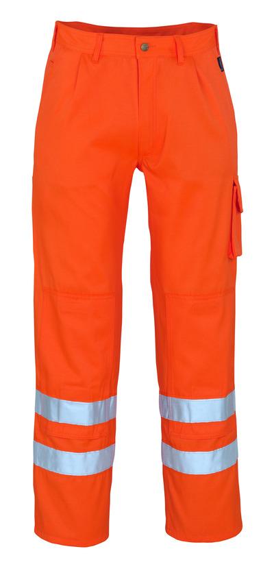 MASCOT® Iowa - hi-vis orange - Bukser med knælommer, kl. 1/2