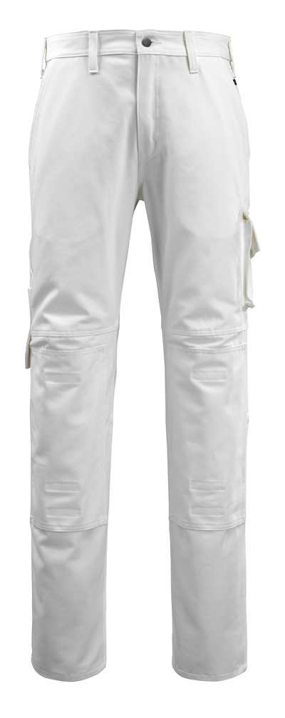 MACMICHAEL® Jardim - hvid - Bukser med knælommer, bomuld