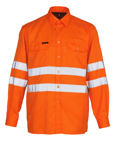 MASCOT® Jona - hi-vis orange - Skjorte, klassisk pasform, kl. 3