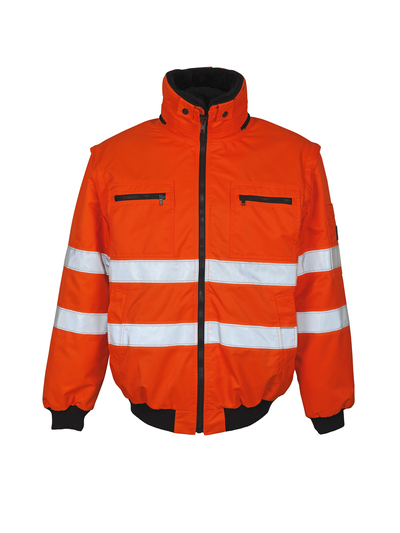 MASCOT® Kaprun - hi-vis orange - Pilotjakke med udtageligt pelsfór, vandafvisende, kl. 3