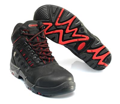 MASCOT® Kenya - sort/rød - Sikkerhedsstøvle S3 med snørebånd