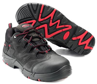 MASCOT® Kilimanjaro - sort/rød - Sikkerhedssko S3 med snørebånd