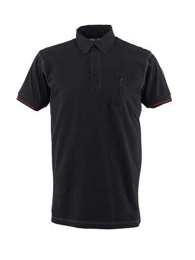 MASCOT® Kreta - sort - Poloshirt med brystlomme, moderne pasform