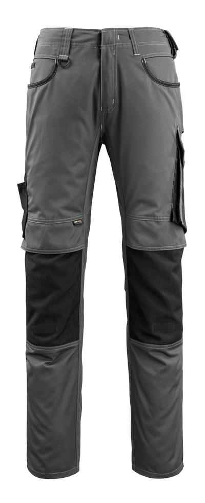 MASCOT® Lemberg - mørk antracit/sort - Buks med CORDURA®-knælommer, ekstra lav vægt