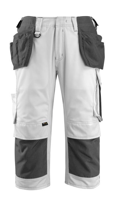 MASCOT® Lindau - hvid/mørk antracit - Knickers med CORDURA®-knæ- og hængelommer, høj slidstyrke