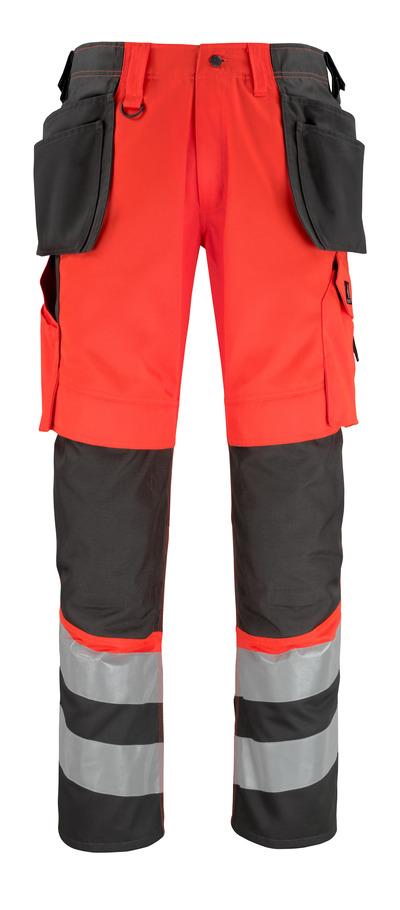 MASCOT® Lixa - hi-vis rød/mørk antracit* - Bukser med knæ- og hængelommer