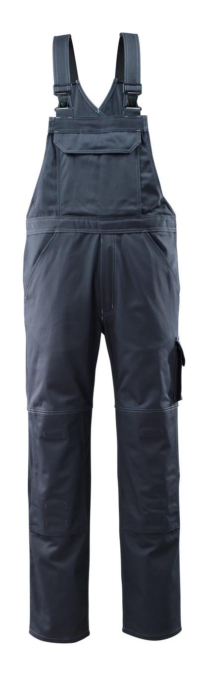 MASCOT® Lowell - mørk marine - Overall med knælommer, bomuld