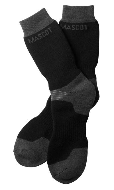 MASCOT® Lubango - sort/mørk antracit - Sokker, ekstra lange, svedtransporterende