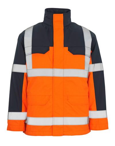 MASCOT® Lungern - hi-vis orange/marine* - Parka med udtageligt quiltfór, vandtæt, multibeskyttelse, kl. 3/2