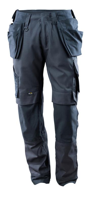 MASCOT® Madrid - mørk marine - Bukser med CORDURA®-knæ- og hængelommer, stretch-paneler, høj slidstyrke