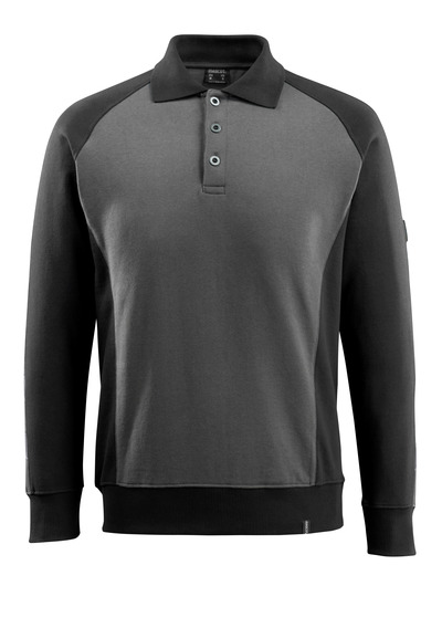 MASCOT® Magdeburg - mørk antracit/sort - Polosweatshirt, moderne pasform