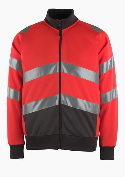 MASCOT® Maia - hi-vis rød/mørk antracit* - Sweatshirt med lynlås, moderne pasform, kl. 2