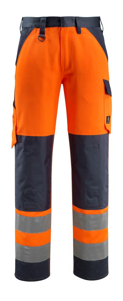 MASCOT® Maitland - hi-vis orange/mørk marine - Bukser med knælommer, kl. 2