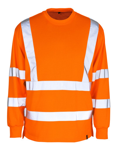 MASCOT® Melita - hi-vis orange - Sweatshirt, klassisk pasform, kl. 3