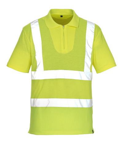 MASCOT® Melville - hi-vis gul* - Poloshirt med lynlås, klassisk pasform, kl. 2/2