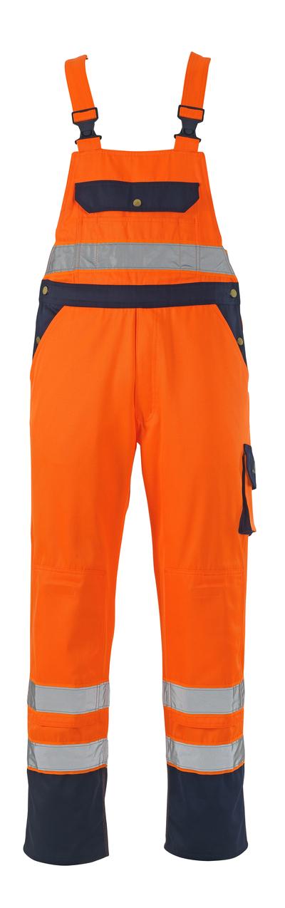 MASCOT® Milano - hi-vis orange/marine* - Overall med knælommer, kl. 2/2