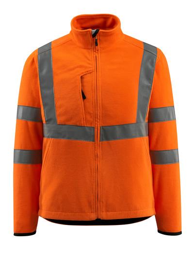 MASCOT® Mildura - hi-vis orange - Fleecejakke med høj krave, kl. 3