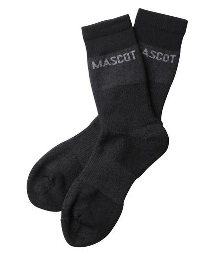 MASCOT® Moshi - mørk antracit-meleret - Sokker, svedtransporterende