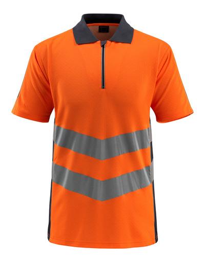MASCOT® Murton - hi-vis orange/mørk marine - Poloshirt med lynlås, moderne pasform, kl. 2
