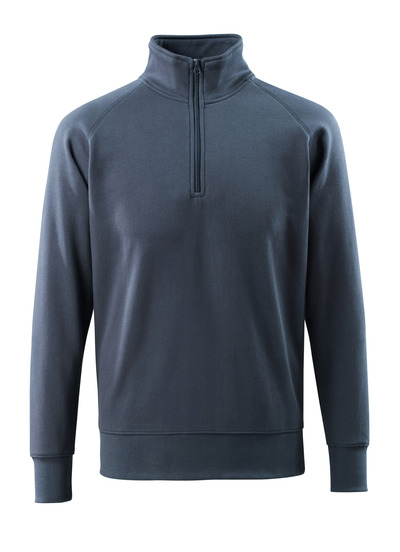 MASCOT® Nantes - mørk marine - Sweatshirt med kort lynlås, moderne pasform
