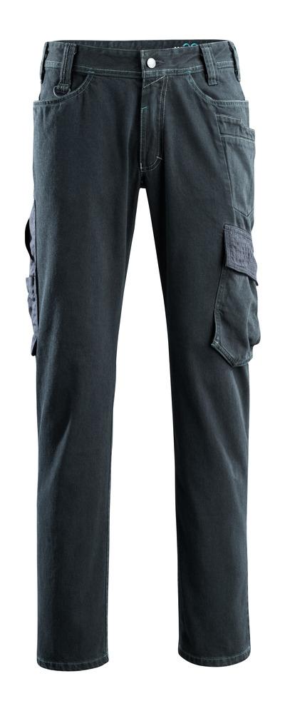 MASCOT® Navia - mørkeblå denim - Jeans med lårlomme, ekstra høj slidstyrke
