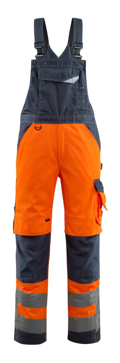 MASCOT® Newcastle - hi-vis orange/mørk marine - Overall med knælommer, kl. 2
