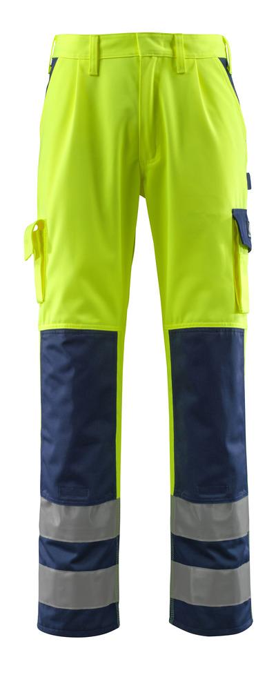 MASCOT® Olinda - hi-vis gul/marine - Bukser med knælommer, kl. 2