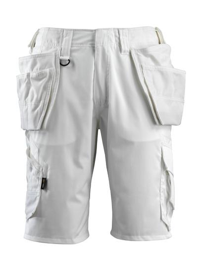 MASCOT® Olot - hvid - Shorts med CORDURA®hængelommer og stretch-paneler
