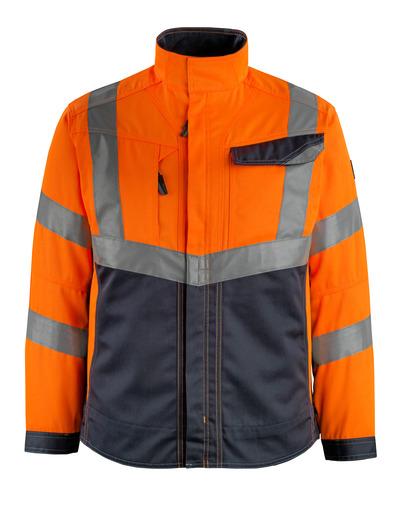 MASCOT® Oxford - hi-vis orange/mørk marine - Jakke, høj slidstyrke, kl. 2