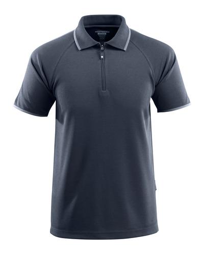 MASCOT® Palamos - mørk marine - Poloshirt med lynlås, med temperaturregulerende TENCEL®