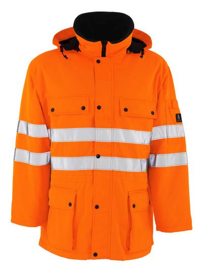 MASCOT® Quebec - hi-vis orange - Parka med quiltfór, vandafvisende, kl. 3/2