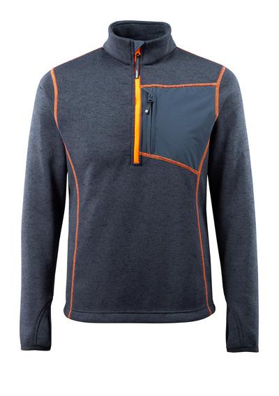 MASCOT® Reims - mørk marine - Striktrøje med kort lynlås