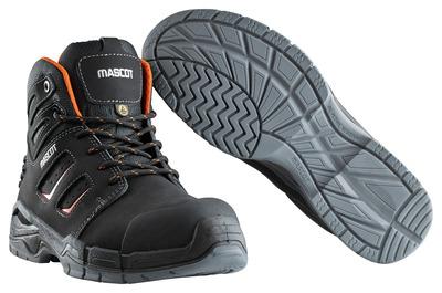 MASCOT® Rimo - sort/mørk orange - Sikkerhedsstøvle S3 med snørebånd