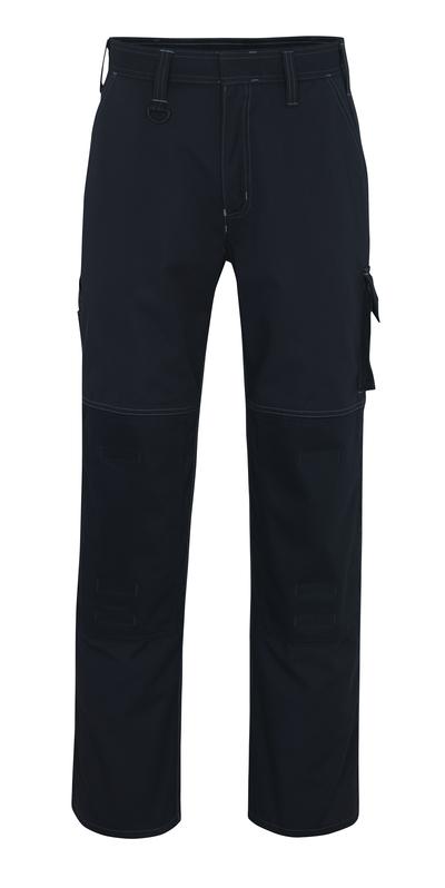 MASCOT® Riverside - mørk marine - Bukser med knælommer, høj slidstyrke