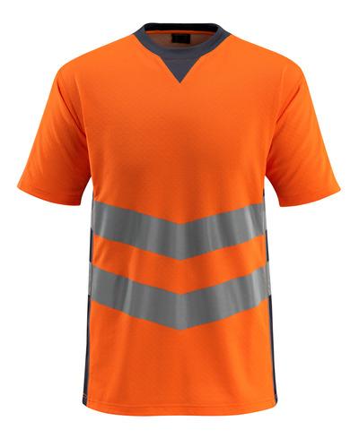 MASCOT® Sandwell - hi-vis orange/mørk marine - T-shirt, moderne pasform, kl. 2
