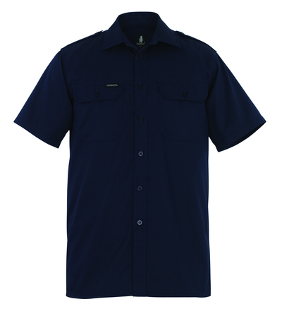 MASCOT® Savannah - marine - Skjorte, kortærmet, klassisk pasform