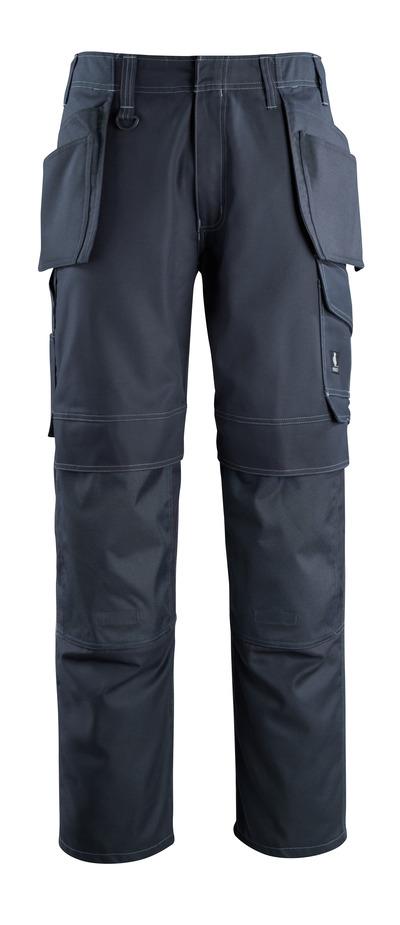 MASCOT® Springfield - mørk marine - Bukser med knæ- og hængelommer, lav vægt