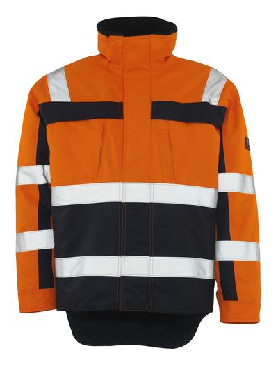 MASCOT® Teresina - hi-vis orange/marine - Vinterjakke med pelsfór, vandtæt, kl. 3