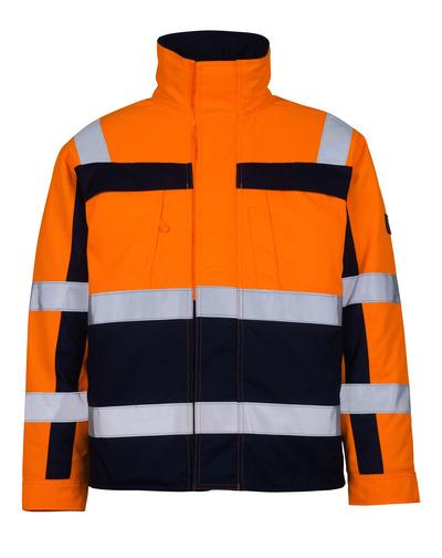 MASCOT® Timon - hi-vis orange/marine* - Pilotjakke med quiltfór, kl. 3