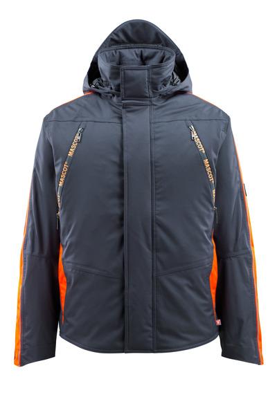 MASCOT® Tolosa - mørk marine/hi-vis orange - Vinterjakke med hi-vis kontrast, vandtæt, høj isoleringsevne